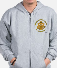 Army Son Gold Zip Hoodie