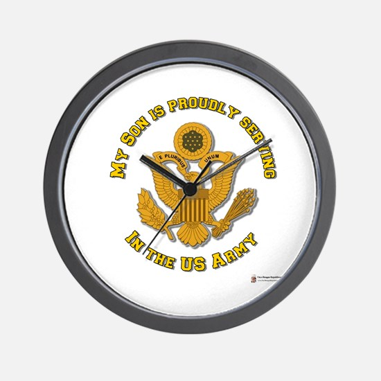 Army Son Gold Wall Clock