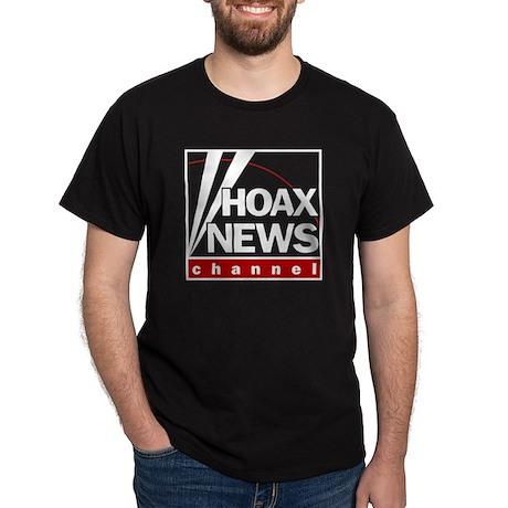 Hoax News Black T-Shirt