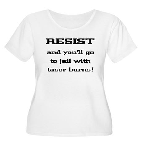 Resist Women's Plus Size Scoop Neck T-Shirt