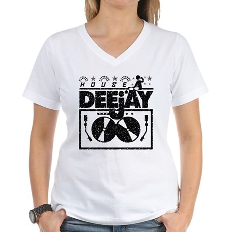 House Deejay Women's V-Neck T-Shirt