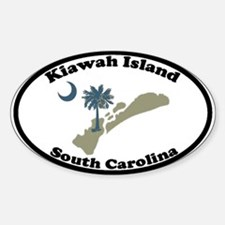 Kiawah Island SC Oval Decal