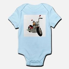 Red Motorcycle Infant Creeper