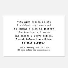 JFK Plot Postcards (Package of 8)
