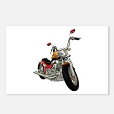 Red Motorcycle Postcards (Package of 8)