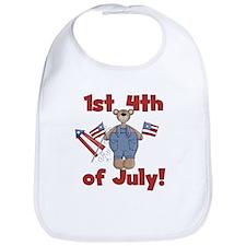 Bear First 4th of July Bib
