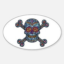 Mosaic Skull 1 Oval Decal