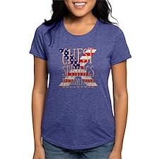 Unique Co ed Women's Plus Size V-Neck Dark T-Shirt
