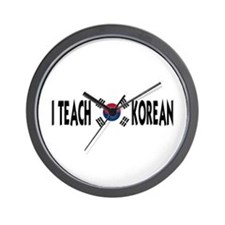 I Teach Korean Wall Clock