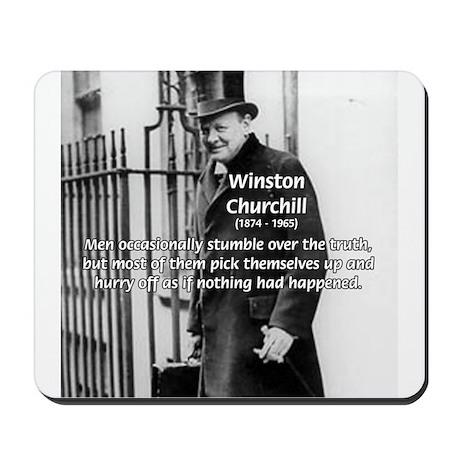Politics Winston Churchill Mousepad