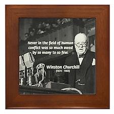 World War II Churchill Framed Tile