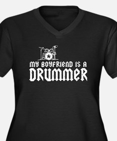 My Boyfriend is a Drummer Women's Plus Size V-Neck