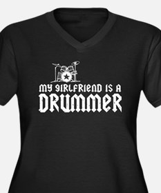 My Girlfriend is a Drummer Women's Plus Size V-Nec