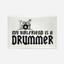 My Girlfriend is a Drummer Rectangle Magnet