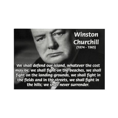 World War 2 Churchill Rectangle Magnet (100 pack)