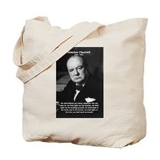 World War 2 Churchill Tote Bag