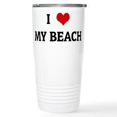 I Love MY BEACH Travel Mug