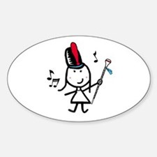 Girl & Drum Major Oval Decal