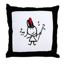 Girl & Drum Major Throw Pillow