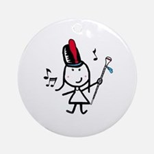Girl & Drum Major Ornament (Round)