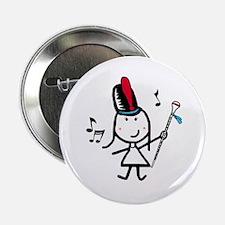 """Girl & Drum Major 2.25"""" Button"""
