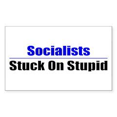 Socialists Stuck On Stupid Rectangle Decal