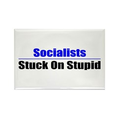 Socialists Stuck On Stupid Rectangle Magnet (10 pa