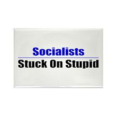Socialists Stuck On Stupid Rectangle Magnet