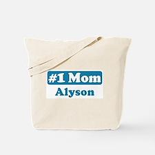 #1 Mom Alyson Tote Bag