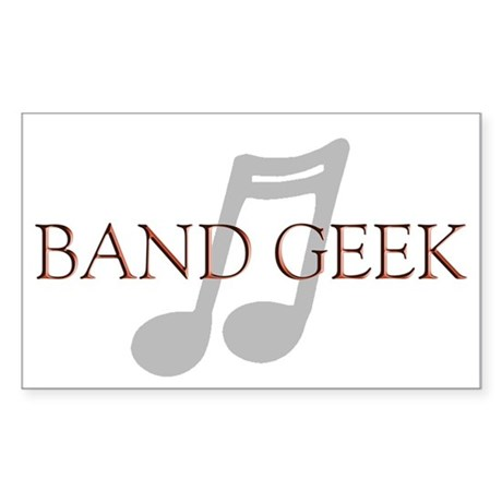 Band Geek Rectangle Sticker