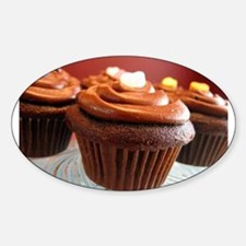 Cup Cakes Oval Decal