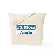 #1 Mom Annie Tote Bag