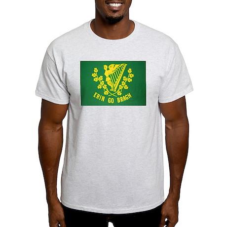 Ireland Green Flag Ash Grey T-Shirt
