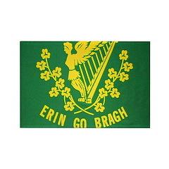 Ireland Green Flag Rectangle Magnet (100 pack)