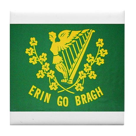 Ireland Green Flag Tile Coaster