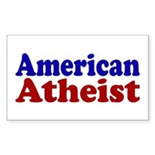 American Atheist Rectangle Decal