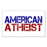 American Atheist Rectangle Sticker