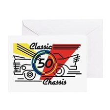 Classic Chassis 50th Birthday Greeting Card