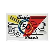 Classic Chassis 50th Birthday Rectangle Magnet