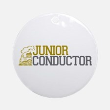 Junior Train Conductor Ornament (Round)