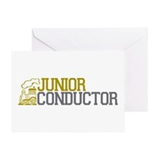 Junior Train Conductor Greeting Card