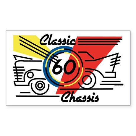 Classic Chassis 60th Birthday Rectangle Sticker
