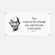 Gandhi - Be the Change Banner