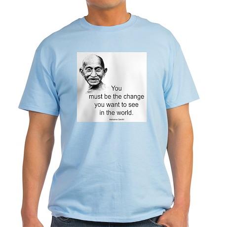 Gandhi - Be the Change Light T-Shirt