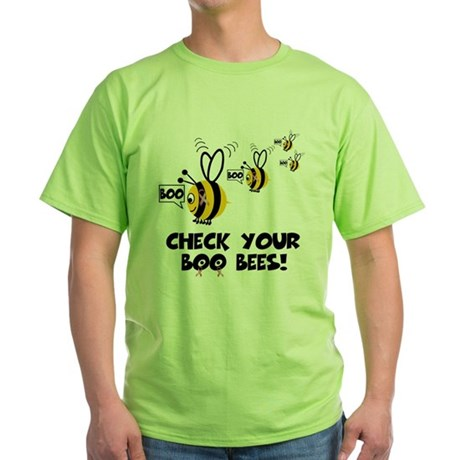 Funny spoof slogan boobies Green T-Shirt