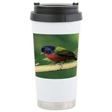 Painted bunting Travel Mug