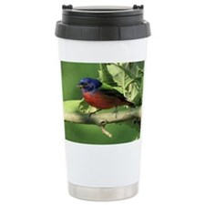 Painted bunting Travel Coffee Mug