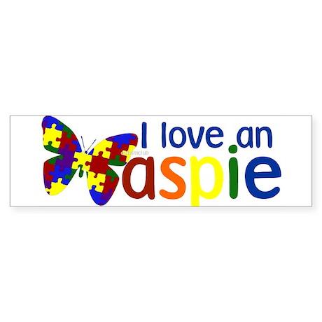I love an Aspie Bumper Sticker