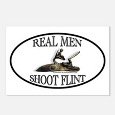 Real Men Shoot Flint Postcards (Package of 8)