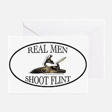 Real Men Shoot Flint Greeting Cards (Pk of 10)